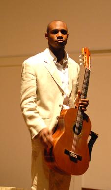 Cuban guitarist Ahmed Dickinson
