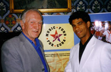 Ken Gill, Music Fund trustee, with Carlos Acosta at the House of Commons reception.