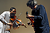Omar Punte and John Etheridge performing