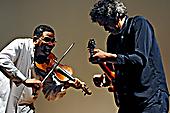 Omar Punte and John Etheridge performing