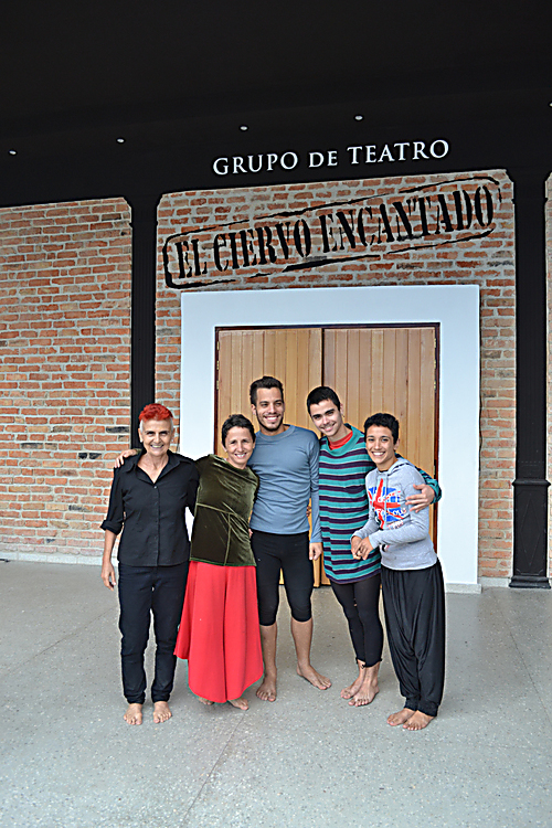 The company outside the newly renovated theatre
